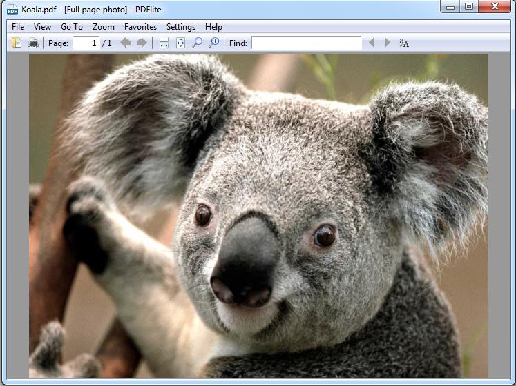 save jpg as pdf